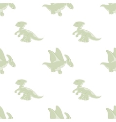 Seamless pattern of cartoon dino vector