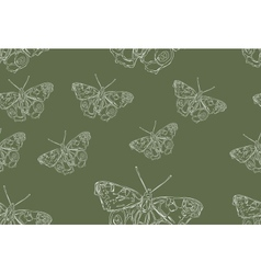 Butterfly seamless repeatable pattern vector