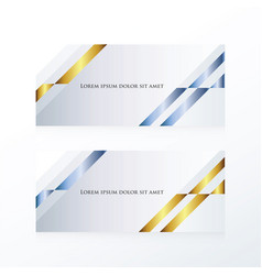 Abstract banner design gold and blue vector
