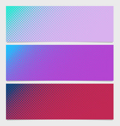 Abstract halftone dot pattern horizontal banner - vector