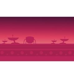 alien spacecraft red backgrounds game vector image vector image
