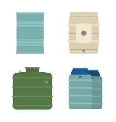 Barrel capacity tanks vector image vector image