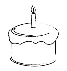 Birthday cake icon image vector