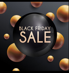 black friday sale can be used for website and vector image vector image