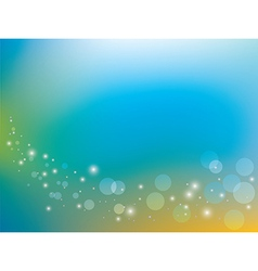 blue and yellow background with bokeh vector image