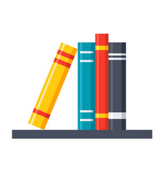 Bookshelf icon vector