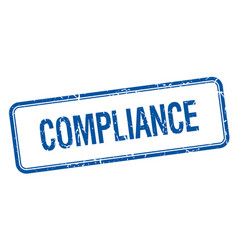Compliance blue vector