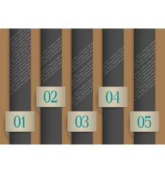 Dark paper numbered banners vector image vector image