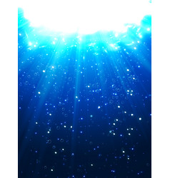 Deep water bubbles dark blue color illuminated by vector