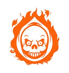 Flaming Reaper Head vector image vector image