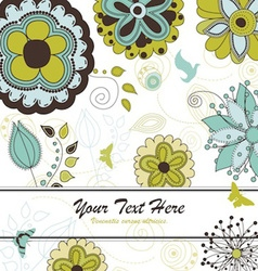 garden square card vector image