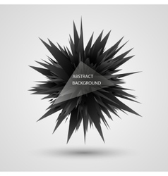 Geometric background abstract black explosion vector