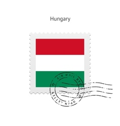 Hungary Flag Postage Stamp vector image vector image