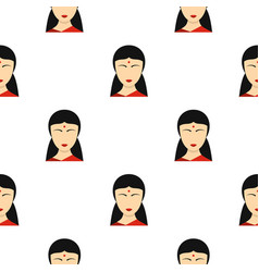 Indian girl pattern seamless vector