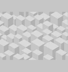 Isometric cube seamless pattern vector