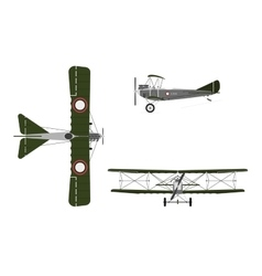 Military retro airplane on a white background vector image
