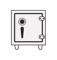 safebox icon silhouette vector image