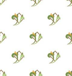 seamless kuxnya zelen vector image