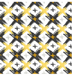 Seamless pattern with grunge yellow and black vector