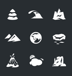 set of enviroment icons vector image vector image