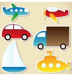 Transport set vector image vector image