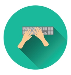 Typing icon vector image vector image