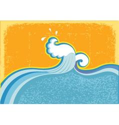 wave in ocean vector image