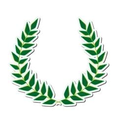 Wreath leaves crown design vector