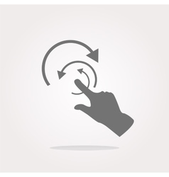 Hand and abstract arrow web app button web icon vector