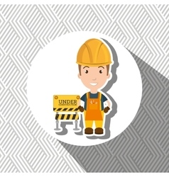 Under construction worker website vector