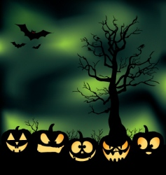 cloudy pumpkin patch vector image