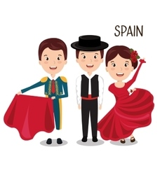 Group spain music dance design vector