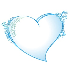 Heart from water splash vector