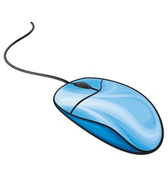 Blue computer mouse vector