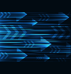blue arrow abstract technology background vector image