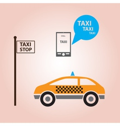 Taxi style icons decoration eps10 vector