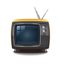 Retro tv isolated vector