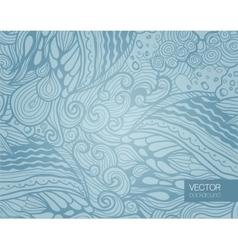Elegant blue abstract floral wallpaper vector