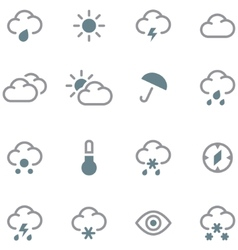 Weather forecast icons set vector