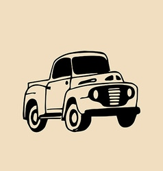 Vintage car design vector