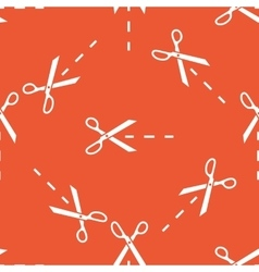 Orange cutting scissors pattern vector image