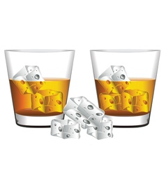 Whiskey glass2 vector