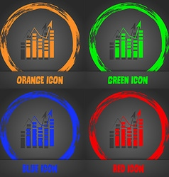 Graph icon sign fashionable modern style in the vector