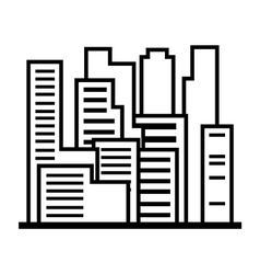 Skyscrapers outline vector