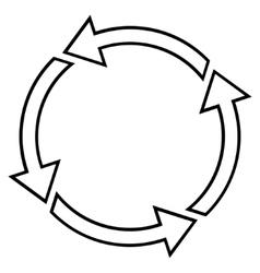 Rotation Ccw Contour Icon vector image