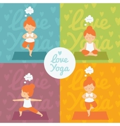 Yoga practice set vector