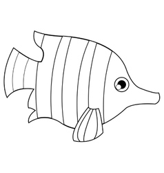 Tropical fish icon vector