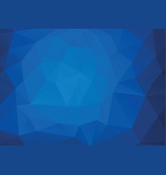 Abstract triangle background in deep blue tones vector