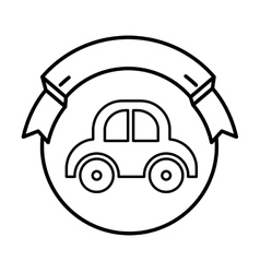 Baby car toy seal stamp vector