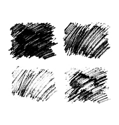 Black paint stains overlay texture vector